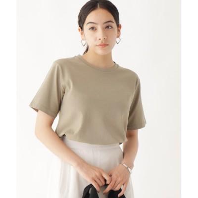 (OPAQUE.CLIP/オペーク ドット クリップ)GIZA COTTON天竺 ベーシッククルーネックTシャツ/レディース サンドベージュ(053)