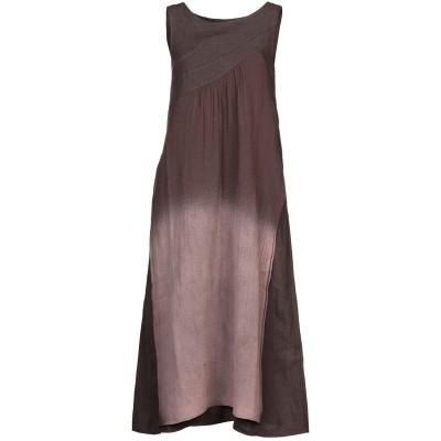 アルファスタジオ ALPHA STUDIO 7分丈ワンピース・ドレス ココア 40 リネン 100% 7分丈ワンピース・ドレス