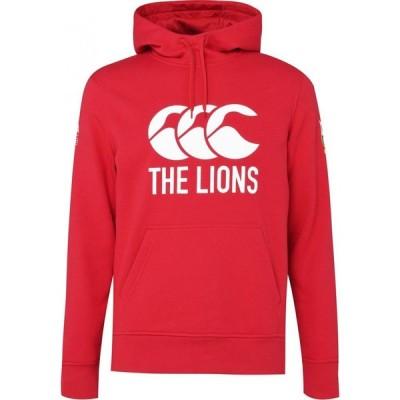 カンタベリー Canterbury メンズ パーカー トップス British And Irish Lions Logo Hoodie TANGO RED
