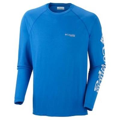 (取寄)コロンビア メンズ ターミナル タックル ロングスリーブ シャツ Columbia Men's Terminal Tackle LS Shirt Vivid Blue / Cool Grey