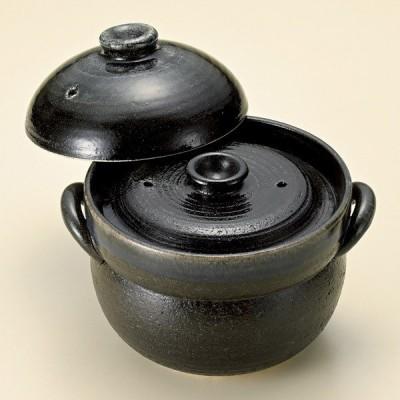 (業務用・土鍋)るり釉ご飯鍋2合炊(中蓋付)(萬古焼)[57221-658](入数:1)