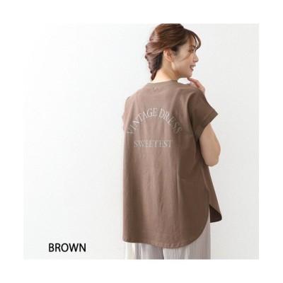 (OWNCODE/オウンコード)さらっと快適 クールスラブバックロゴTシャツ/レディース ブラウン