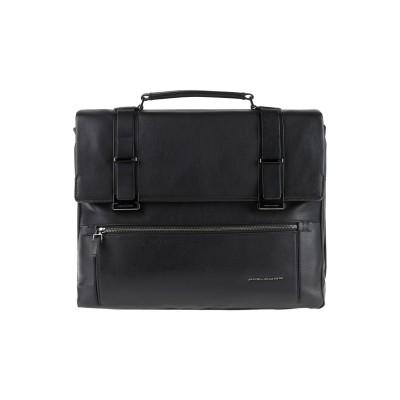 PIQUADRO ブリーフケース ブラック 牛革 / 合成繊維 / 金属 ブリーフケース