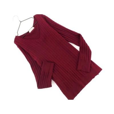 エニィスィス ウール混 ニット セーター size2/えんじ ◇■ ☆ akc5