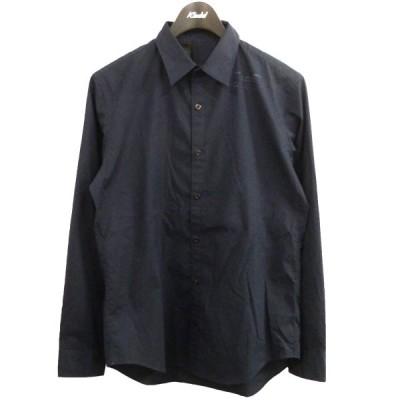 【4月12日値下】N.HOOLYWOOD 17AW コンパイルラインスタンプシャツ ネイビー サイズ:38 (原宿店)