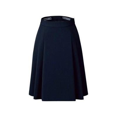 カンセン バックアップカイロポケット付ソフトプリーツスカート オフィスウエア FS45791-7 7 ネイビー