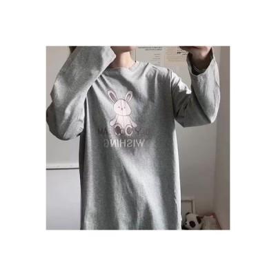 【送料無料】韓国風 長袖シャツ 乗り内部Tシャツ 春秋 レディース ワイシャツ ルース | 364331_A63598-3420477