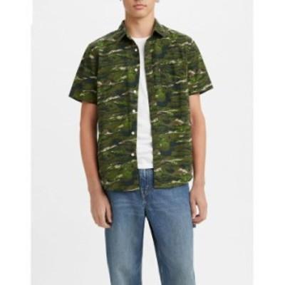 リーバイス メンズ シャツ トップス Men's Classic 1 Pocket Short Sleeve Shirt Abstract Fish Wave