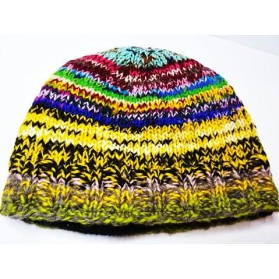 フリースinカラフルニット帽E