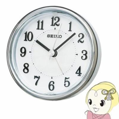セイコークロック 目覚まし時計 アナログ ELバックライト 白パール KR895W SEIKO