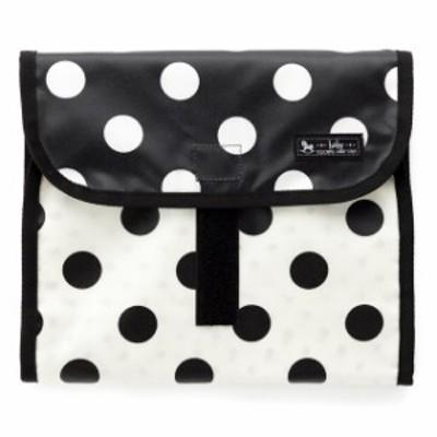 おむつポーチ クラッチタイプ polka dot large (broadcloth・black) B1405000