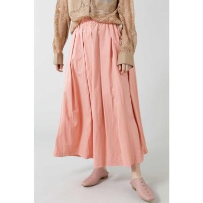 ギャザーロングスカート ピンク