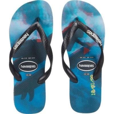 ハワイアナス Havaianas メンズ ビーチサンダル シューズ・靴 Top Photoprint Sandal Black/Black/Blue Star