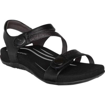エイトレックス サンダル シューズ レディース Jess Quarter Strap Sandal (Women's) Black Synthetic
