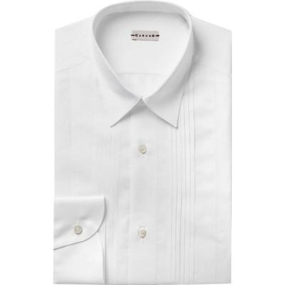 カルーゾ CARUSO メンズ シャツ トップス solid color shirt White