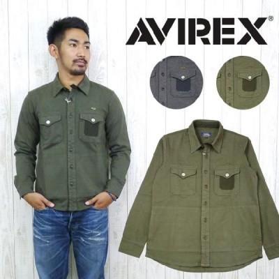 AVIREX アビレックス アヴィレックス シャツ ジャケット C.P.O. (CPO) ジャージ コットン avi6123182