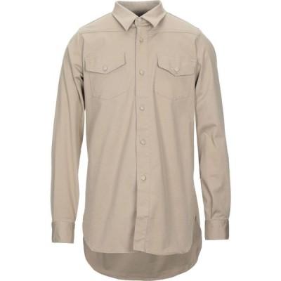 ファミリーファーストミラノ FAMILY FIRST Milano メンズ シャツ トップス solid color shirt Beige
