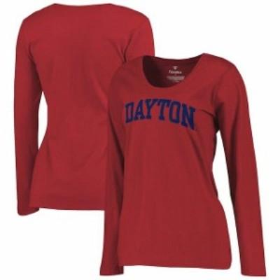Fanatics Branded ファナティクス ブランド スポーツ用品  Dayton Flyers Womens Red Basic Arch Long Sleeve T-Shirt