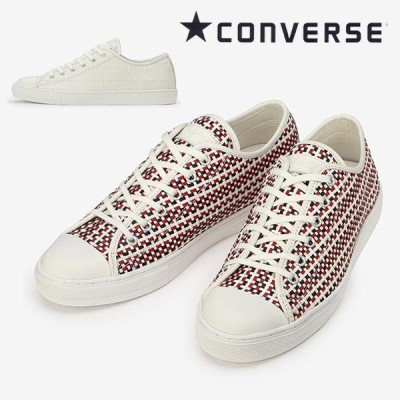 コンバース オールスター クップ ウーブン converse allstar coupe woven ox メンズレディース  ホワイト ホワイト/ネイビー/レッド 送料無料