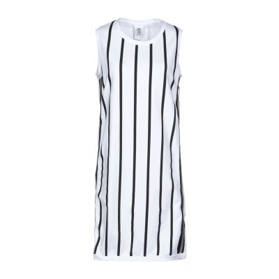 LE VOLIÈRE ミニワンピース&ドレス ホワイト S コットン 95% / ポリウレタン 5% ミニワンピース&ドレス