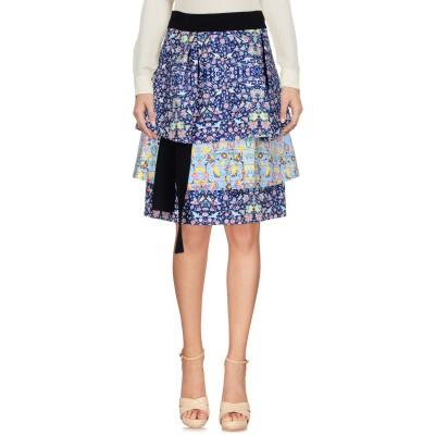ミアハタミ MIAHATAMI ひざ丈スカート ブルー 38 ポリエステル 87% / ポリウレタン 13% ひざ丈スカート