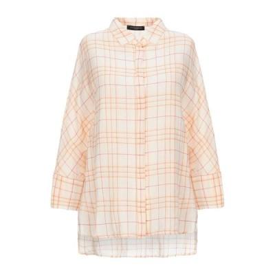 ANTONELLI チェック柄シャツ  レディースファッション  トップス  シャツ、ブラウス  長袖 あんず色