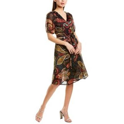 ヴェルヴェットバイグラハムスペンサー レディース ワンピース トップス Velvet by Graham & Spencer Taylor Wrap Dress navy paisley