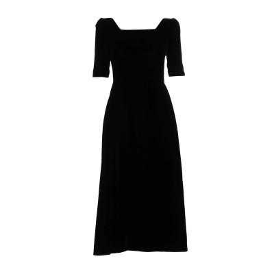 SAINT LAURENT 7分丈ワンピース・ドレス ブラック 36 レーヨン 65% / キュプラ 35% 7分丈ワンピース・ドレス