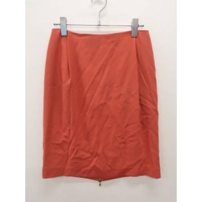 DEUXIEME CLASSE(ドゥーズィエムクラス)バックジップスカート 赤 レディース Aランク 36
