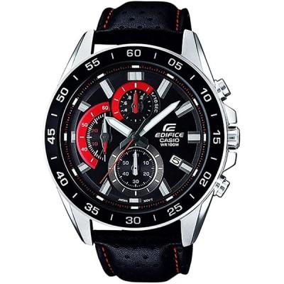 カシオ 腕時計 メンズ エディフィス 100m防水 クロノグラフ EFV-550D-1A CASIO EDIFICE レザーベルト 時計 ウオッチ 並行輸入品