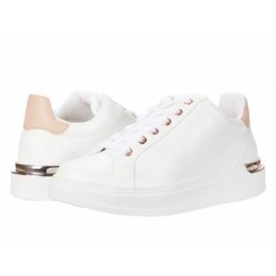 Steve Madden スティーブマデン レディース 女性用 シューズ 靴 スニーカー 運動靴 Jaxie Sneaker White/Natural【送料無料】