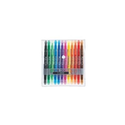 【三菱鉛筆】ピュアカラーF 中字丸芯+極細 12色セット