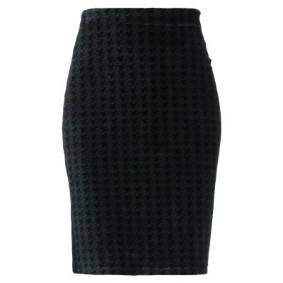 マジェスティック MAJESTIC FILATURES ひざ丈スカート ダークグリーン 1 コットン 96% / ポリウレタン 4% ひざ丈スカート
