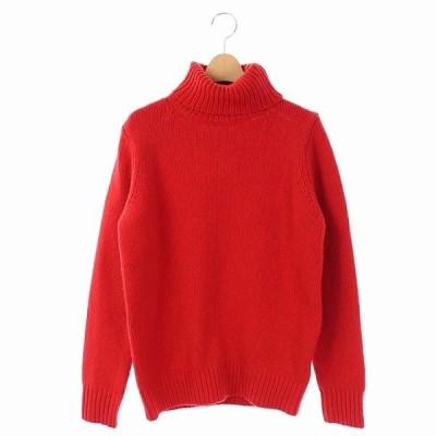 【中古】デミルクス ビームス Demi-Luxe BEAMS ニット セーター タートルネック 長袖 ウール カシミヤ 赤 レッド /AO ■OS レディース 【ベクトル 古着】