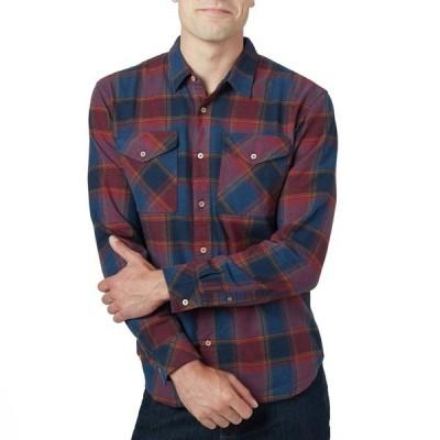 テンツリー メンズ シャツ トップス Tentree Bowren Long-Sleeve Shirt Bowren Plaid Red Maple