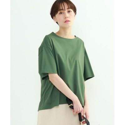 INDIVI/インディヴィ 「S」フレアスリーブルーズTシャツ オリーブグリーン(626) 05(XXS)