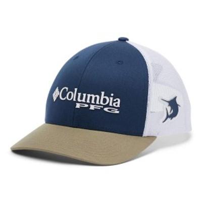 コロンビア メンズ 帽子 アクセサリー PFG Mesh Snap Back Ballcap Carbon/White/Tu