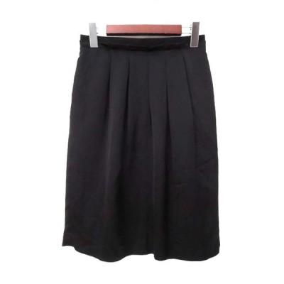 【中古】サロット SALOTTO フレア スカート 38 M 黒 ブラック 無地 シンプル レディース 【ベクトル 古着】