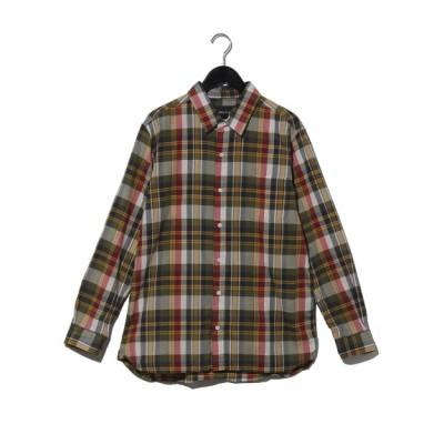 Melan Cleuge[メンズ] (メランクルージュ) マドラスタイニーカラーシャツ カーキ M