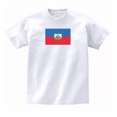国 国旗 Tシャツ ハイチ 白