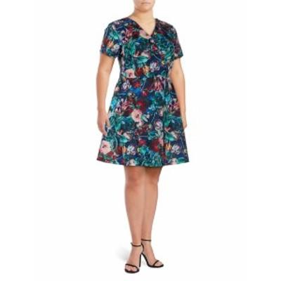 アレクシアアドモール レディース ワンピース Floral-Print Fit-&amp-Flare Dress