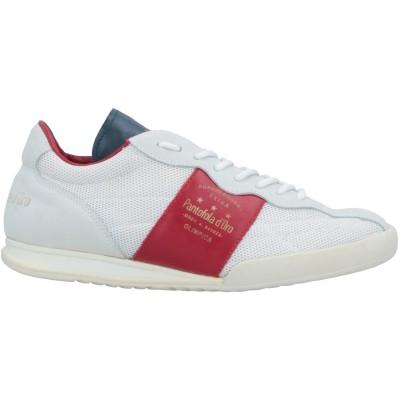PANTOFOLA D'ORO スニーカー&テニスシューズ(ローカット) ホワイト 43 革 / 紡績繊維 スニーカー&テニスシューズ(ローカット)