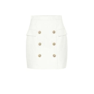 バルマン Balmain レディース ミニスカート スカート Embellished miniskirt Blanc