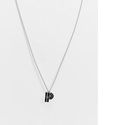 トミー ヒルフィガー レディース ネックレス・チョーカー アクセサリー Tommy Hilfiger mini tag and disc pendant in silver Silver