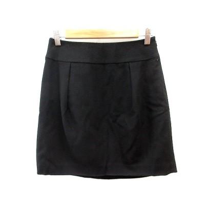 【中古】ジュエルチェンジズ Jewel Changes アローズ 台形スカート ミニ ウール 36 黒 ブラック /AU レディース 【ベクトル 古着】