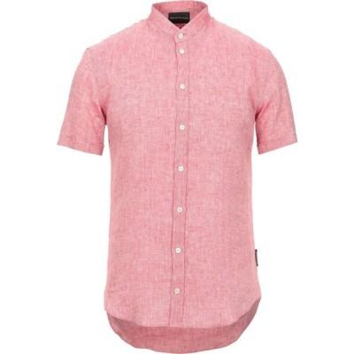 アルマーニ EMPORIO ARMANI メンズ シャツ トップス linen shirt Red