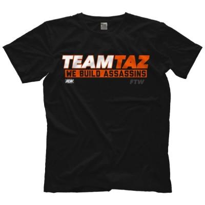 AEW プロレスTシャツ「AEW タズ TAZ Team Taz Tシャツ」AEW アメリカ 直輸入Tシャツ《日本未発売》