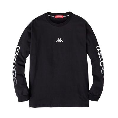 Kappa(カッパ)ビッグシルエット綿100%袖プリント長袖Tシャツ Tシャツ・カットソー, T-shirts,