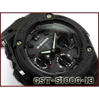 [予約商品 9/25前後入荷予定]G-SHOCK G-STEEL Gスチール CASIO カシオ ソーラー アナデジ メンズ 腕時計 オールブラック GST-S100G-1B