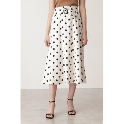 PINKY&DIANNE / ベルト付きドットプリントフレアスカート WOMEN スカート > スカート